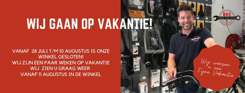 Bas Tweewielers Zoetermeer 2020Wij gaan op vakantie 2